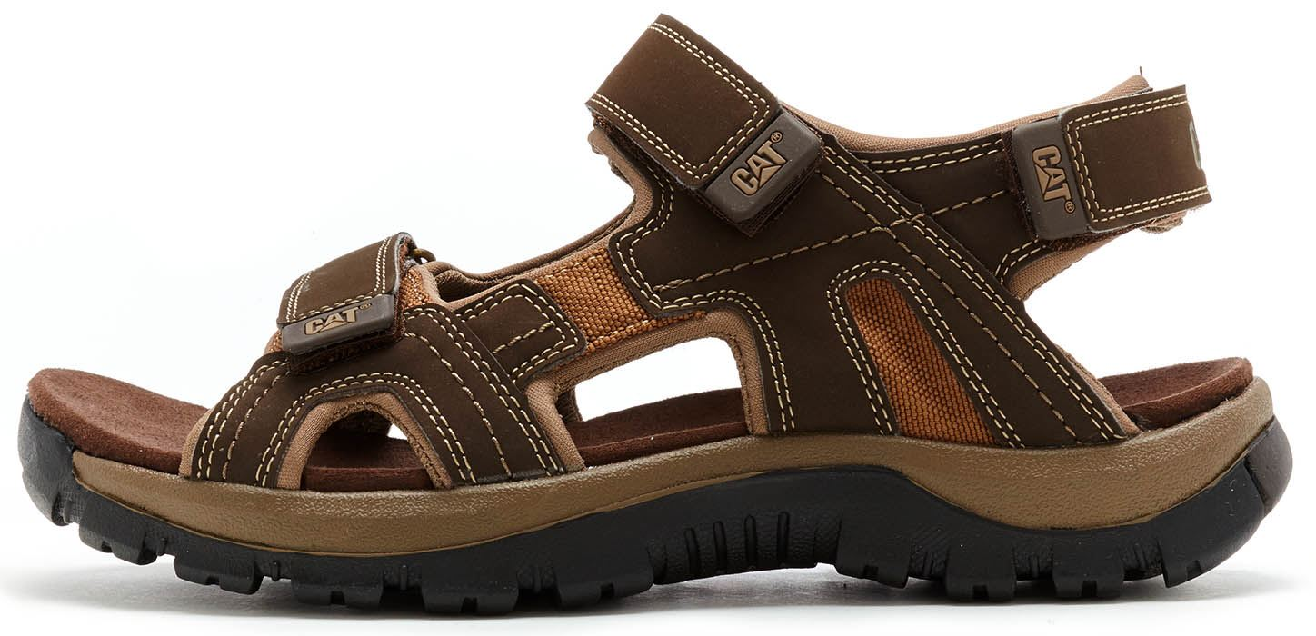 b7eac4d529625 Caterpillar Giles CAT Leather Sandals in Brown & Black. Description Built  for summer - these rugged and durable sandals will take you through the  season.