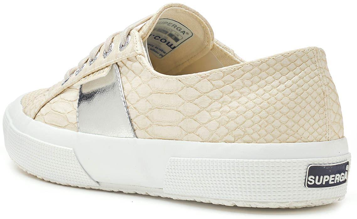 Zapatillas Estampado En De Superga 2750 Serpiente Piel Pusnakew QxBWreCod
