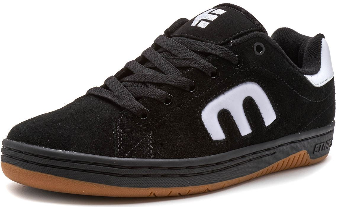 Etnies-Callicut-LS-Suede-amp-Leather-Vintage-Trainers-in-White-amp-Black-4101000474 thumbnail 3