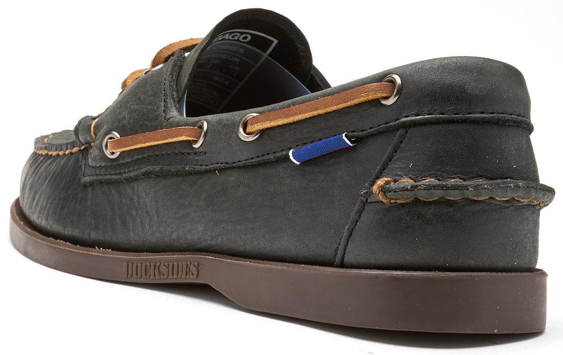 Sebago-Docksides-NBK-Suede-Boat-Deck-Shoes-in-Navy-Blue-amp-Coral-amp-Dark-Brown thumbnail 4