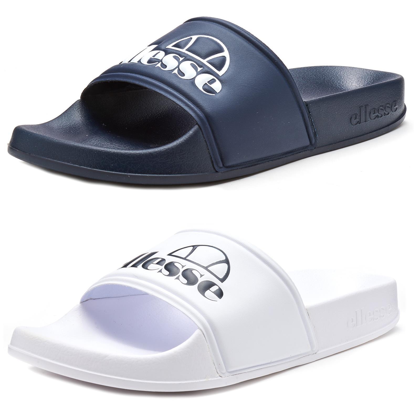 Details zu Ellesse Filippo Women Beach Pool Slides Summer Sandals in Blue & White