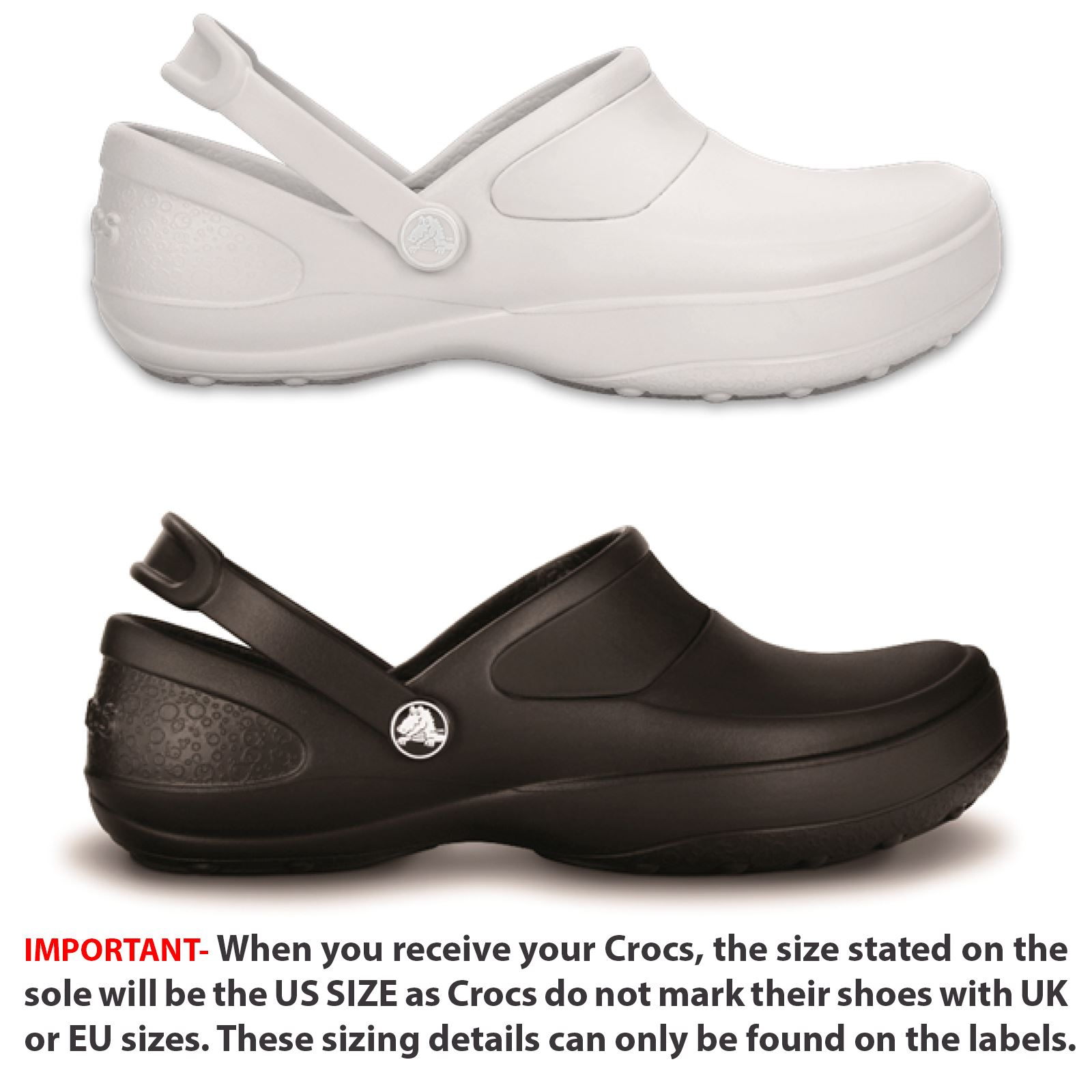 80f689bbc2b860 Details about Crocs Mercy Work Medical Professionals Roomy Fit Clogs Shoes  10876