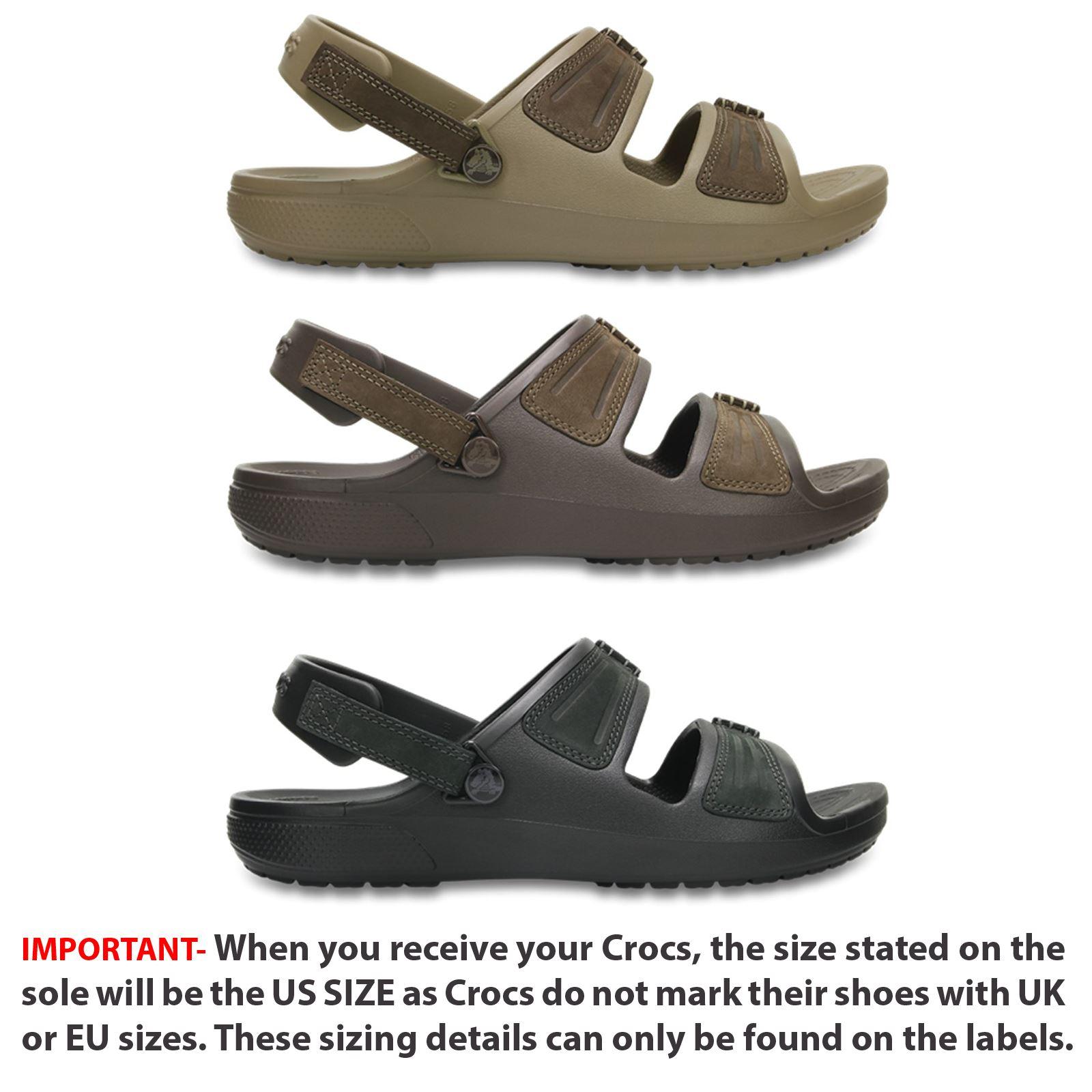 4a05f5f6aaa4 Crocs Yukon Mesa Roomy Fit Sandals in Black