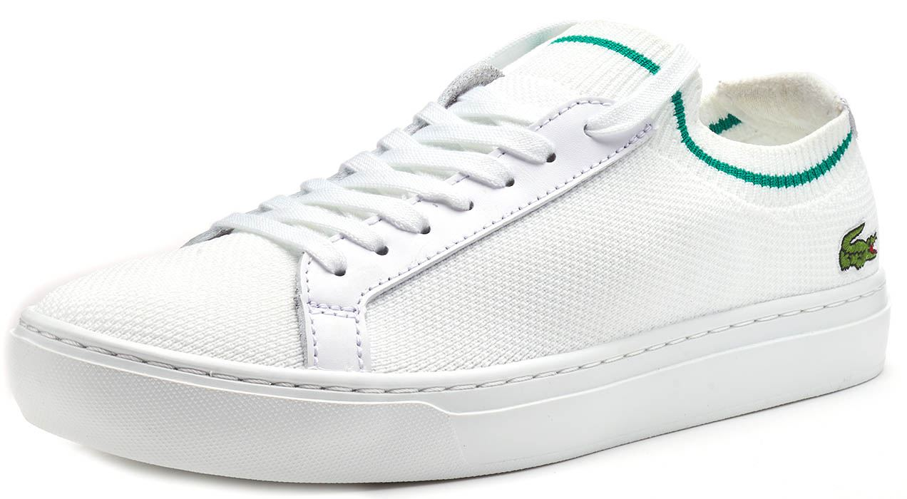 Lacoste-La-Piquee-119-1-CMA-Lace-Up-Textile-Trainers-in-White-amp-Green-amp-Blue thumbnail 3