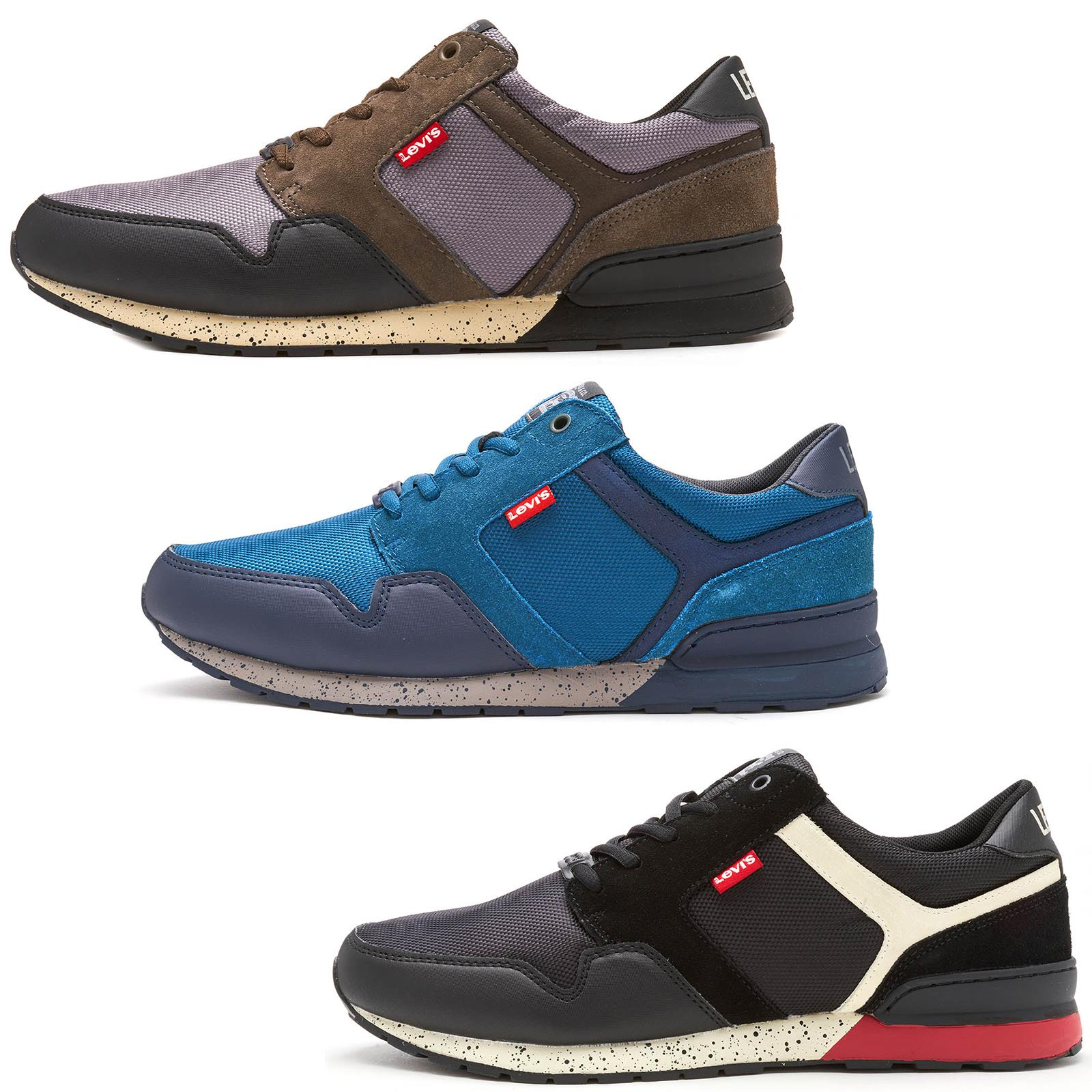 Levis NY Runner II Red Tab Trainers in