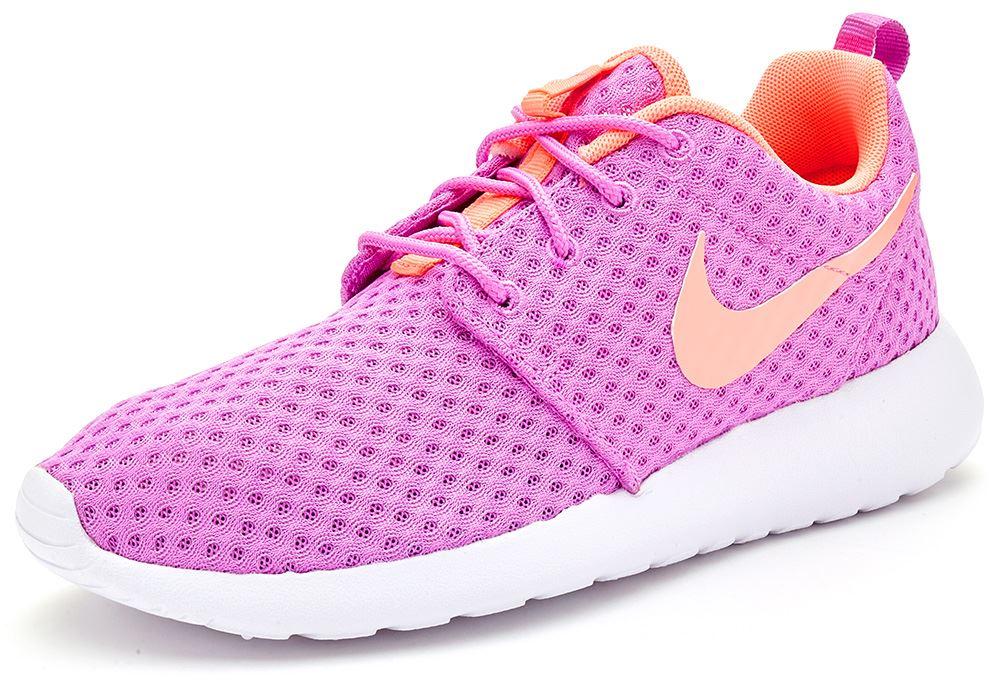 c2ad01dae285 Details about Nike Roshe Run One BR Women Trainers in Fuchsia 724850 581 UK  4.5 EU 38