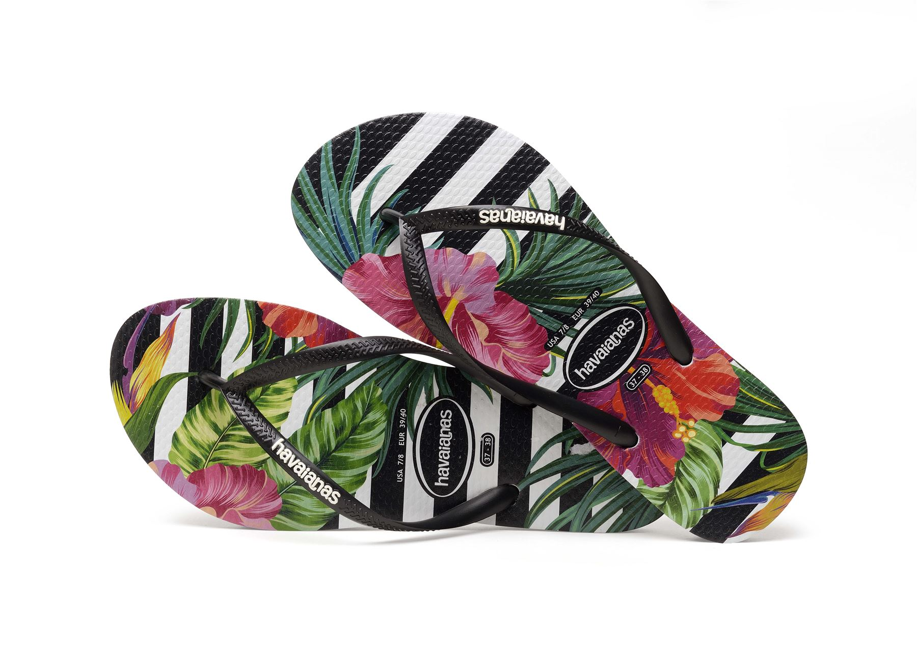Havaianas-Slim-Tropical-amp-Imprime-Floral-Tongs-Ete-Plage-Piscine-Sandales miniature 9