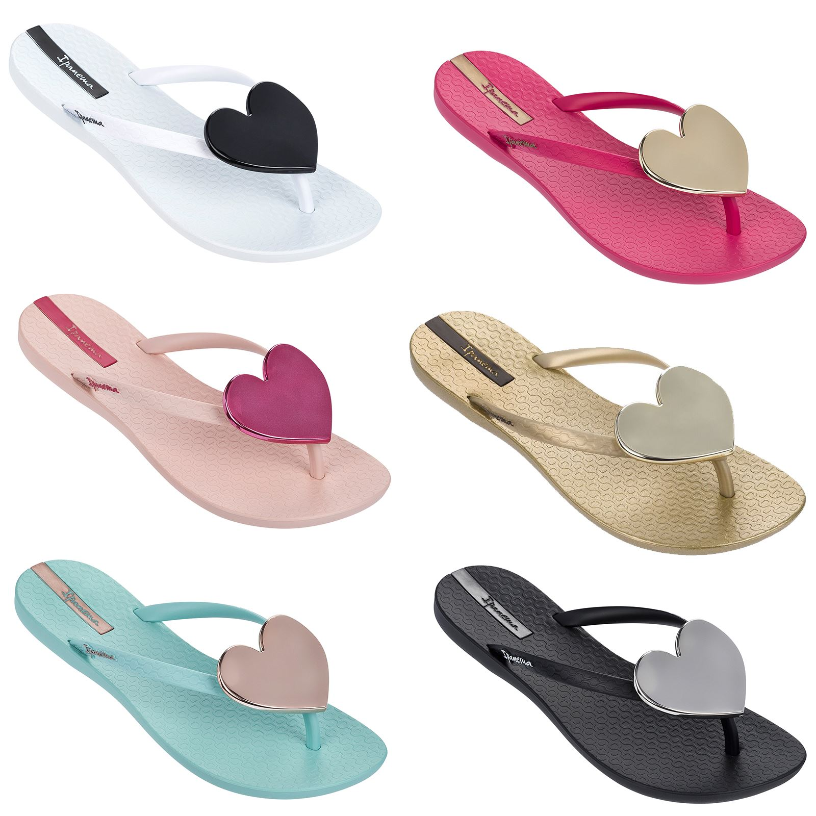 3e7631c9674b Details about Ipanema Wave Maxi Heart Flip Flops Slim Footbed Beach Sandals  82120