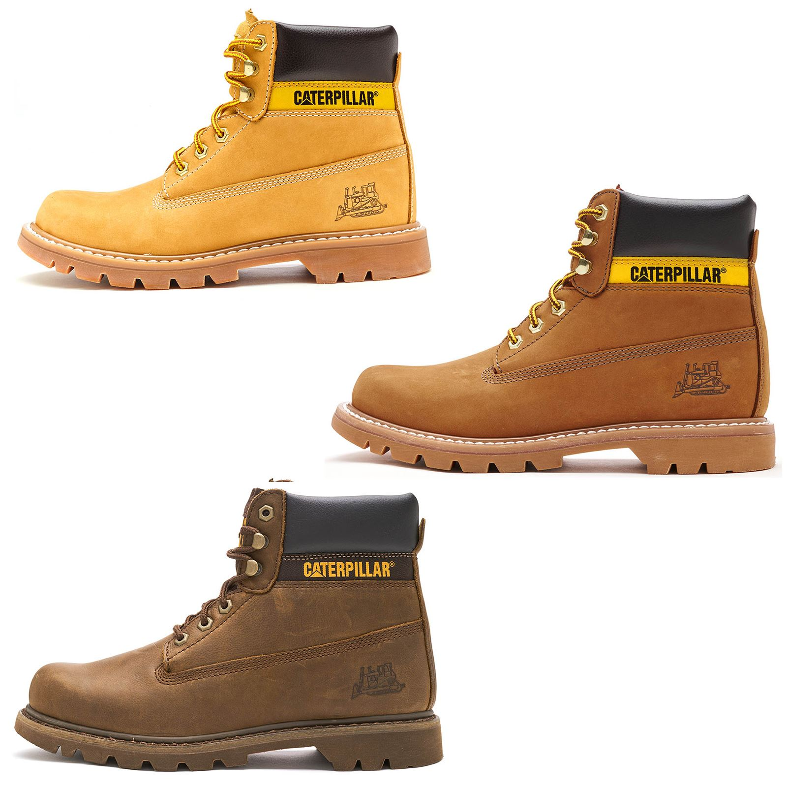 ff05bf6d31e Details about Caterpillar CAT Colorado Boots in Royal Brown & Honey Wheat