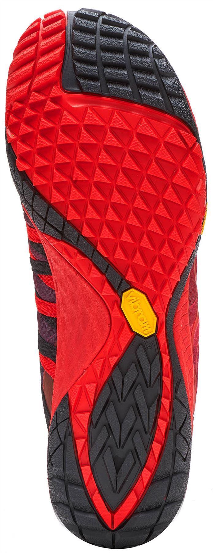 Merrell-Trail-Glove-4-entrenadores-en-Nautica-y-deporte-Azul-Molten-Lava-Rojo-Y-Naranja miniatura 9