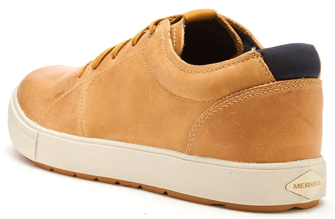 Merrell-Barkley-Full-Grain-Lace-Up-Leather-Shoes-Trainers-Tan-amp-Brunette-Brown thumbnail 8