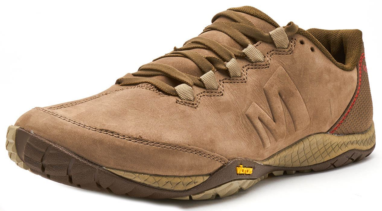 Merrell Parkway Emboss Lace Trainers in Stone braun braun braun & Dusty Olive 491550