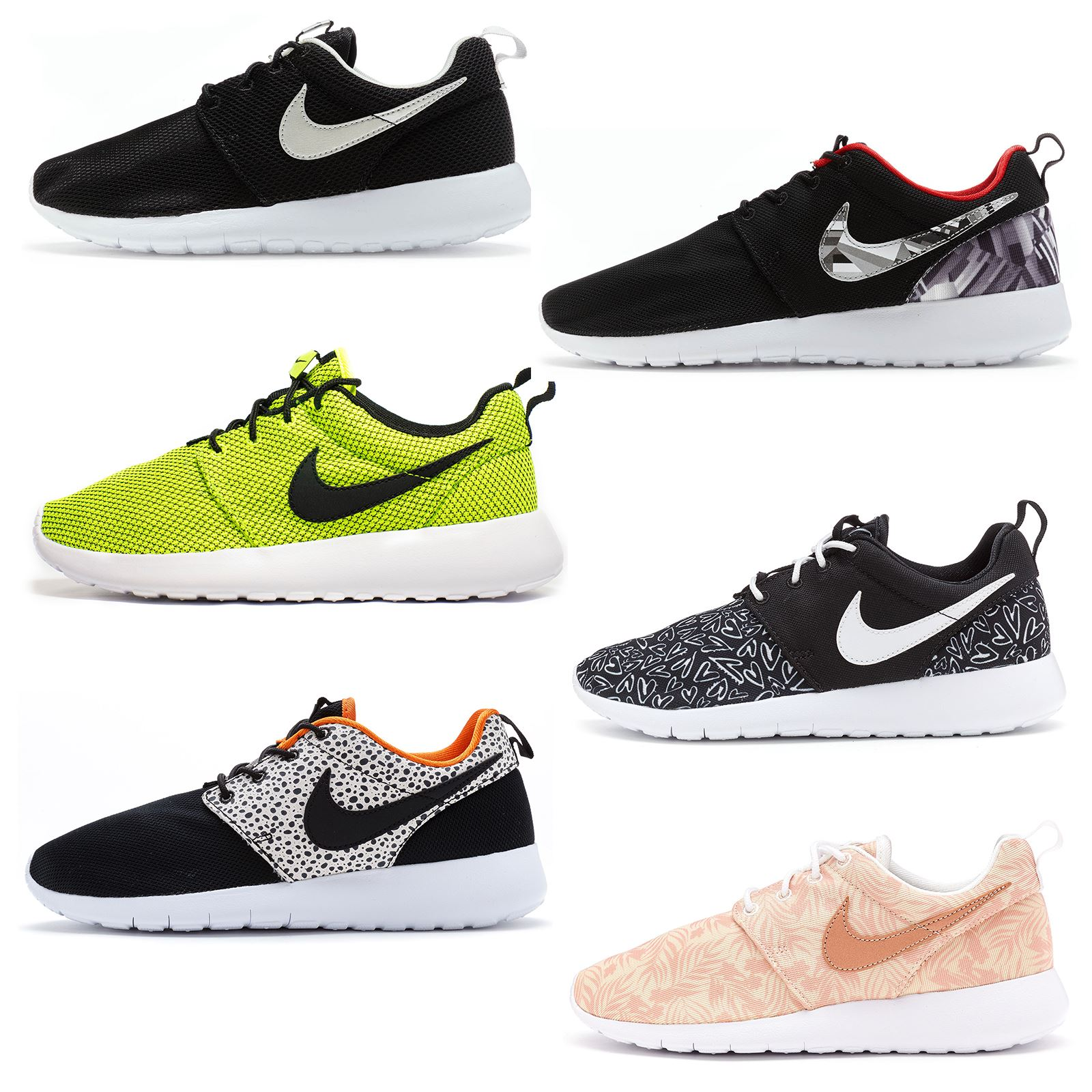 3befea277e8ac Details about Nike Roshe Run One Print   Mesh GS Trainers in All Sizes