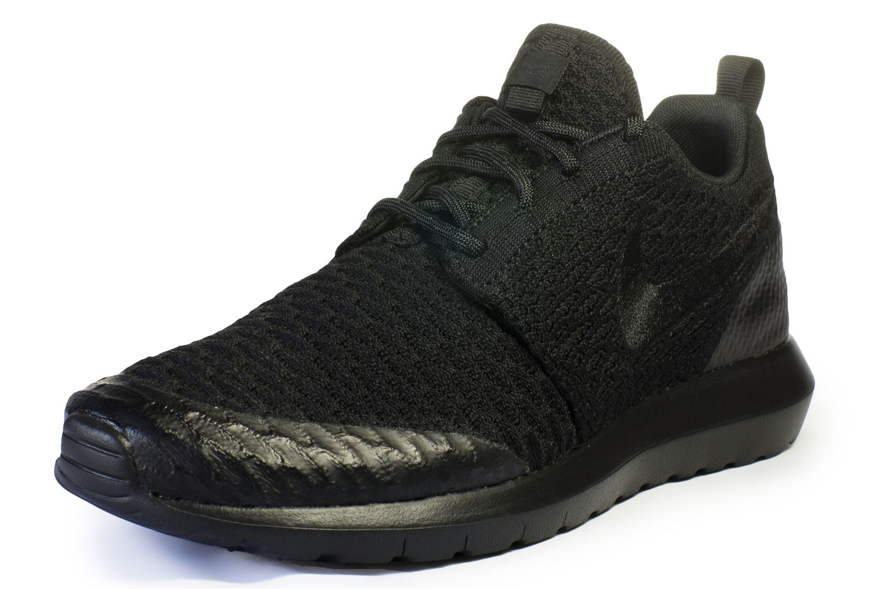 Nike-Roshe-Run-deux-Femme-Baskets-noir-844931-
