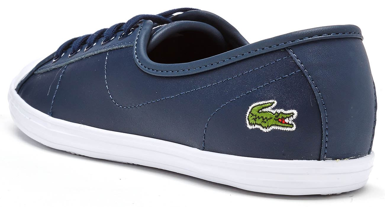 88de34cf Details about Lacoste Ziane Chunky 217 1 CAW Women Trainers in Black &  White 733CAW1075