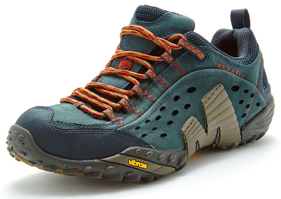 Merrell-Intercept-Hiking-Shoes-in-Moth-Brown-amp-Blue-Wing-amp-Black thumbnail 7