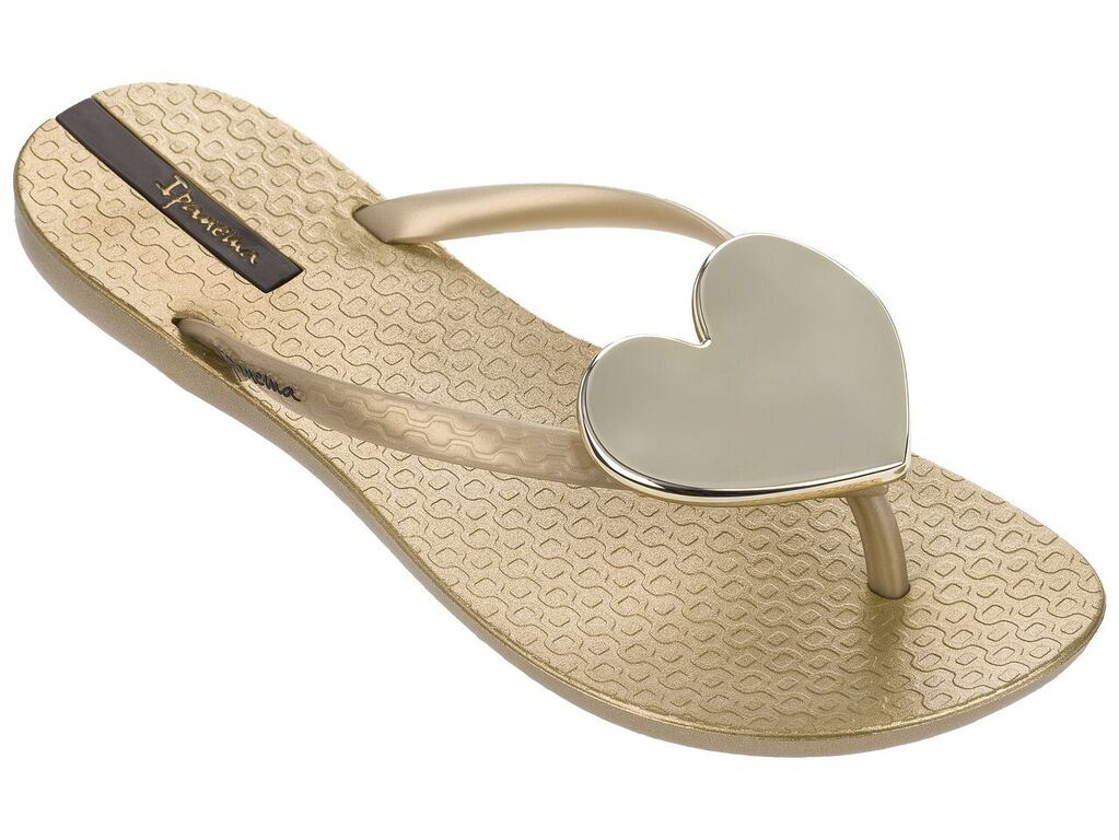 b913fe56a86d40 Ipanema Maxi Heart Womens Ladies Summer Beach Toe Post Sandals Flip Flops  Gold 40. About this product. Picture 1 of 2  Picture 2 of 2