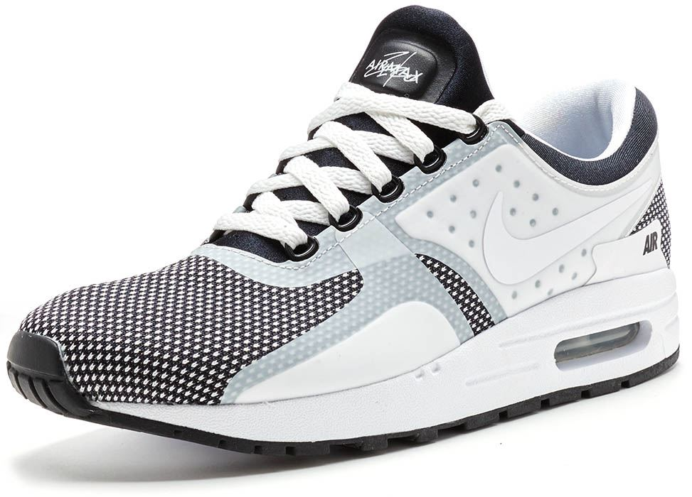 d31b90c9aa Nike Air Max Zero Essential GS Trainers in Black, Wolf Grey & White 881224  001