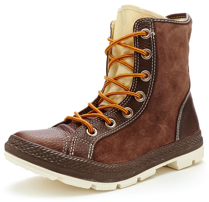 d4ec9165ebe6 Converse Chuck Taylor Outsider Hi Leather Boots Chocolate Brown 125664C 202