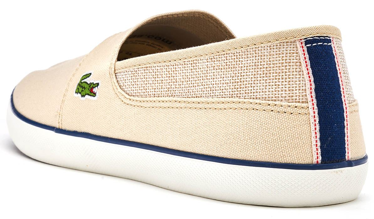 c3a0e3c4991dce Lacoste Marice 218 1 CAM Slip Ons Trainers in Beige