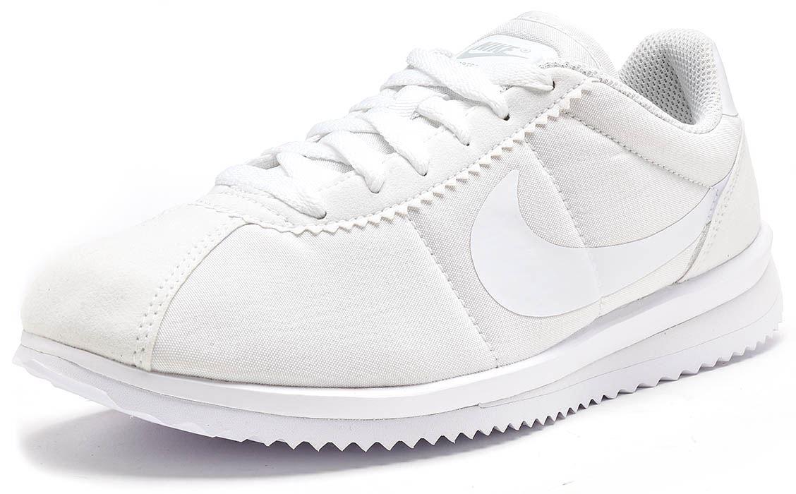 Nike Cortez Nylon y cuero elusiva Imprimir Entrenadores Negro y y Negro Blanco Todas Las Tallas 2a7c28