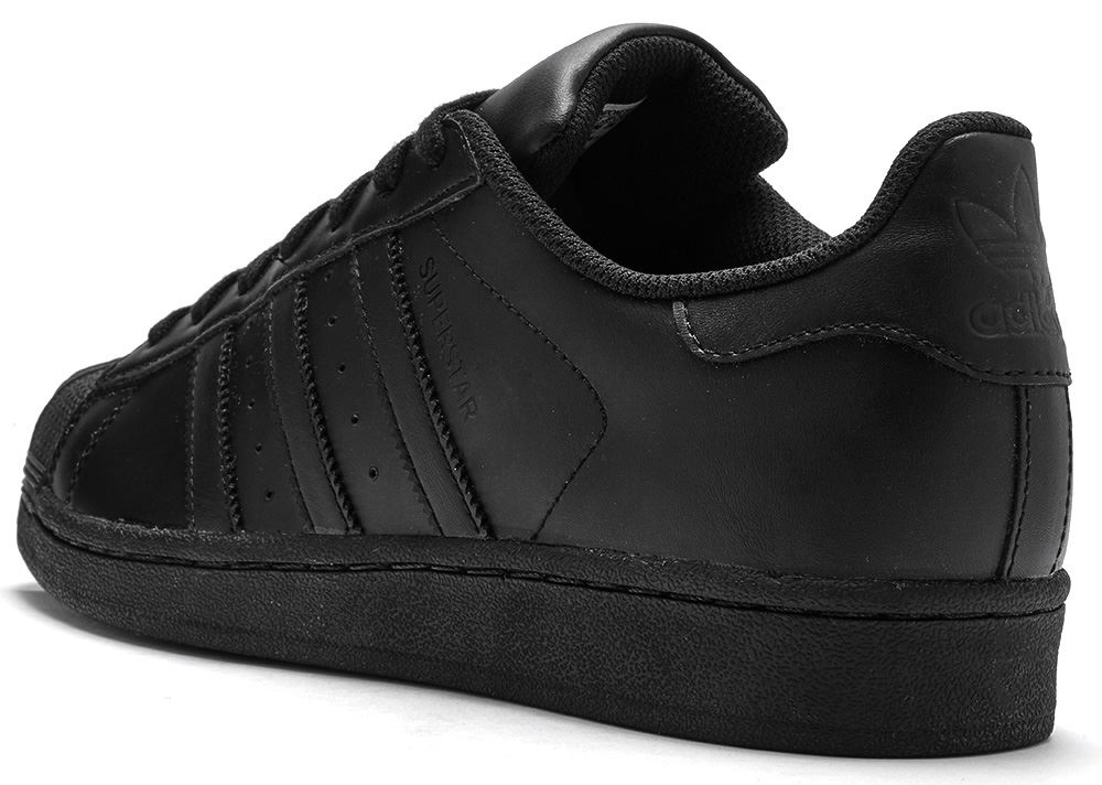 mens adidas black white superstar trainers warehouse magazine