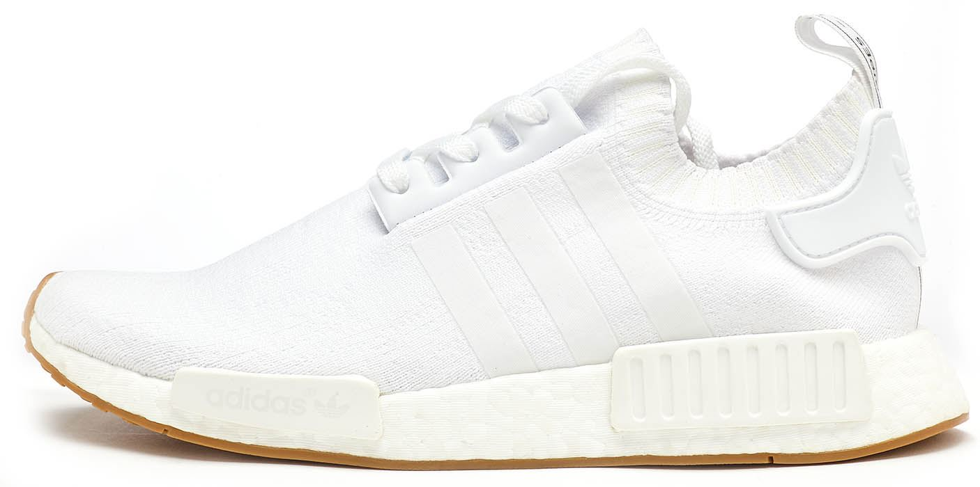 6cd093341716 Adidas Originals NMD R1 Primeknit Trainers in White BY1888