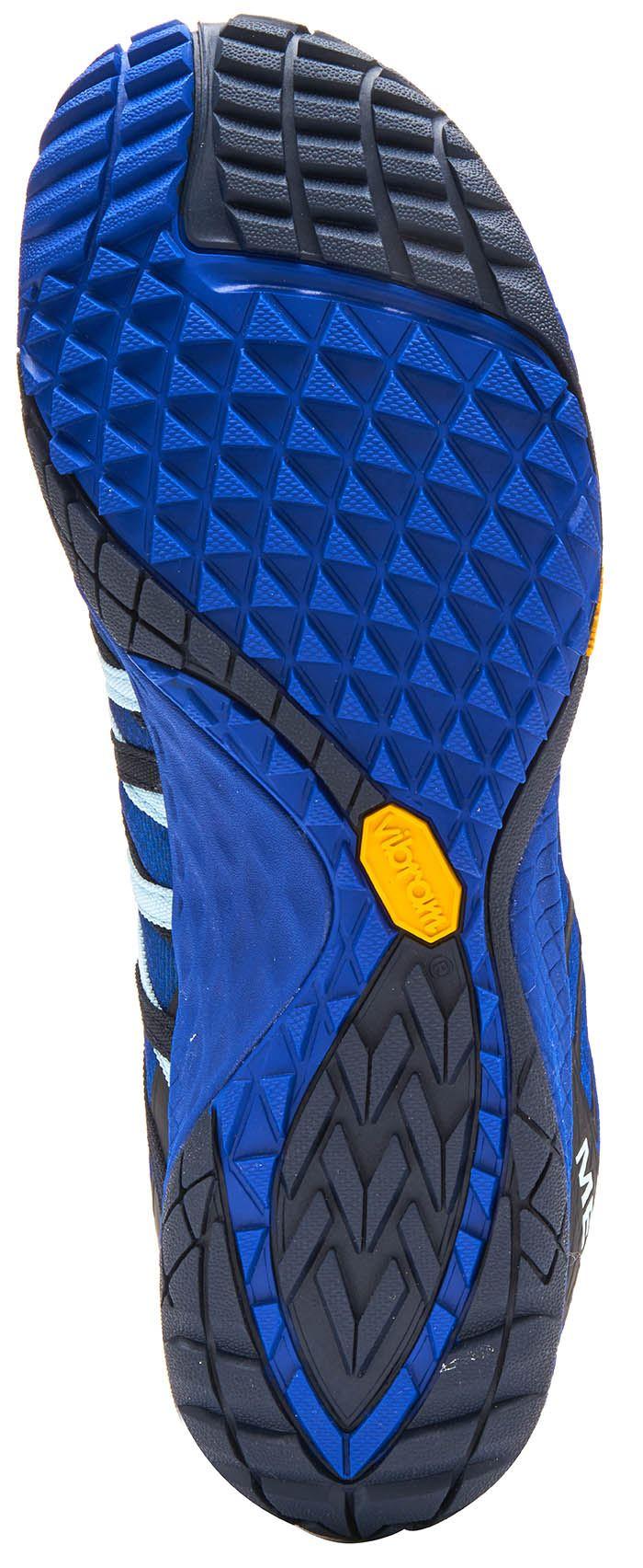 Merrell-Trail-Glove-4-entrenadores-en-Nautica-y-deporte-Azul-Molten-Lava-Rojo-Y-Naranja miniatura 5
