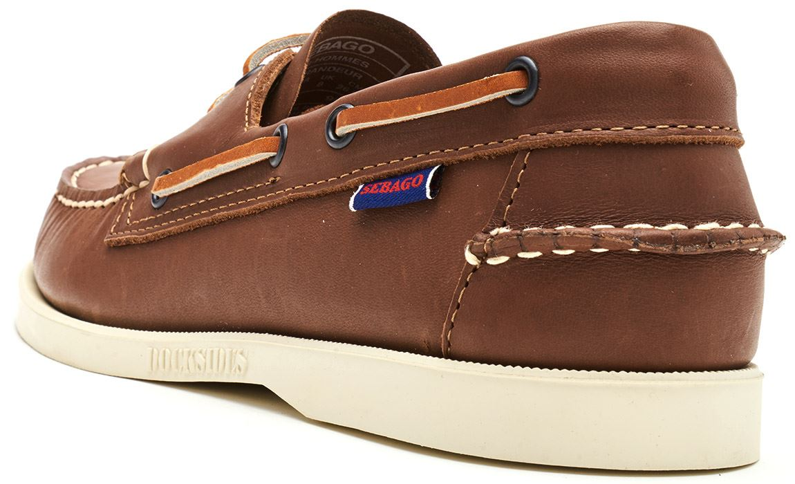 Sebago-Docksides-NBK-Suede-Boat-Deck-Shoes-in-Navy-Blue-amp-Coral-amp-Dark-Brown thumbnail 20