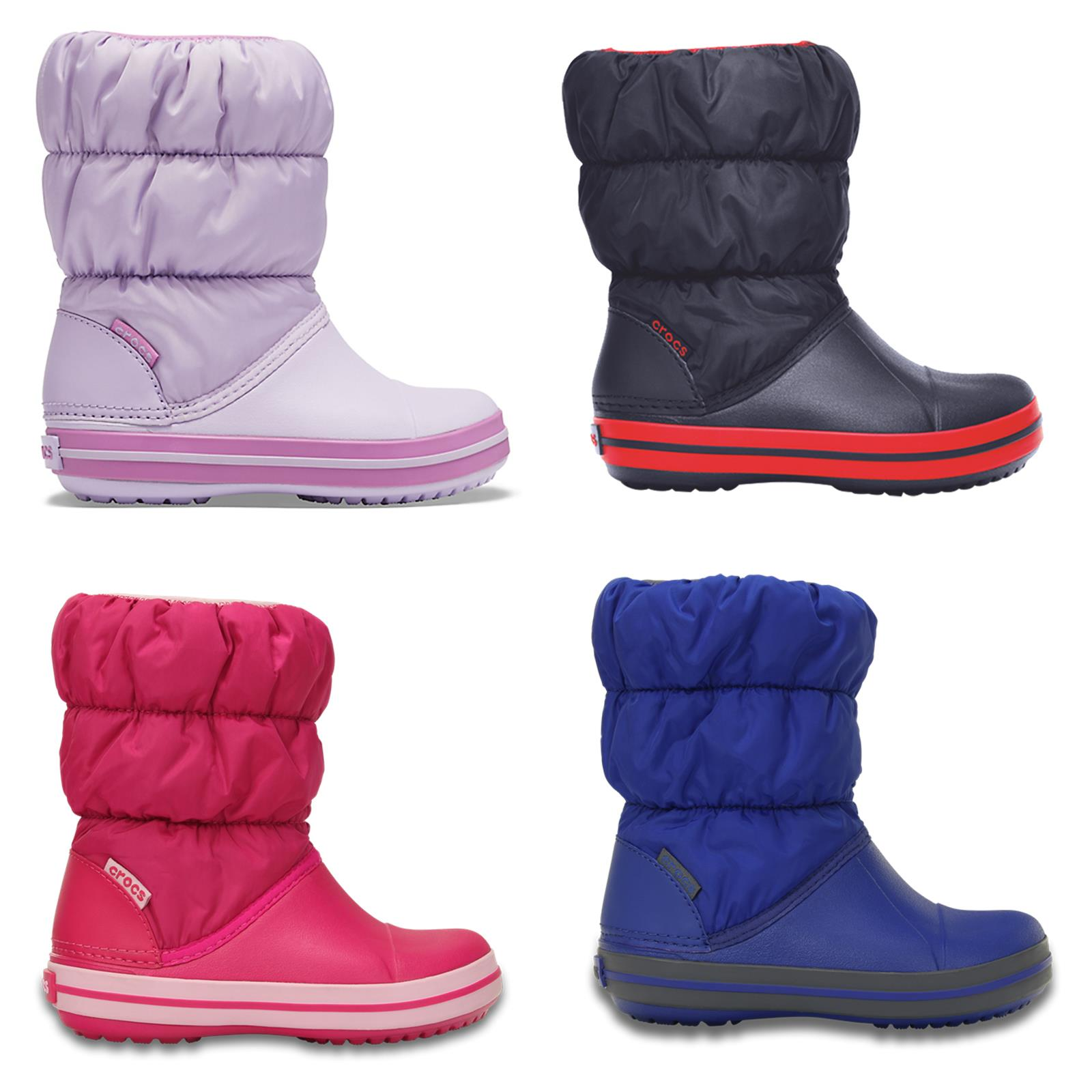BluePink Standard Winter Crocs Fit Boots Kids title in