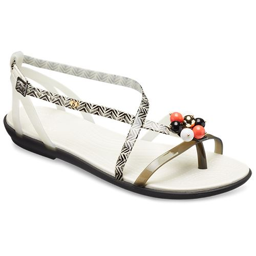 7a23976f57dc Crocs Isabella Gladiator Graphic   Drew Barrymore Sandals in White ...