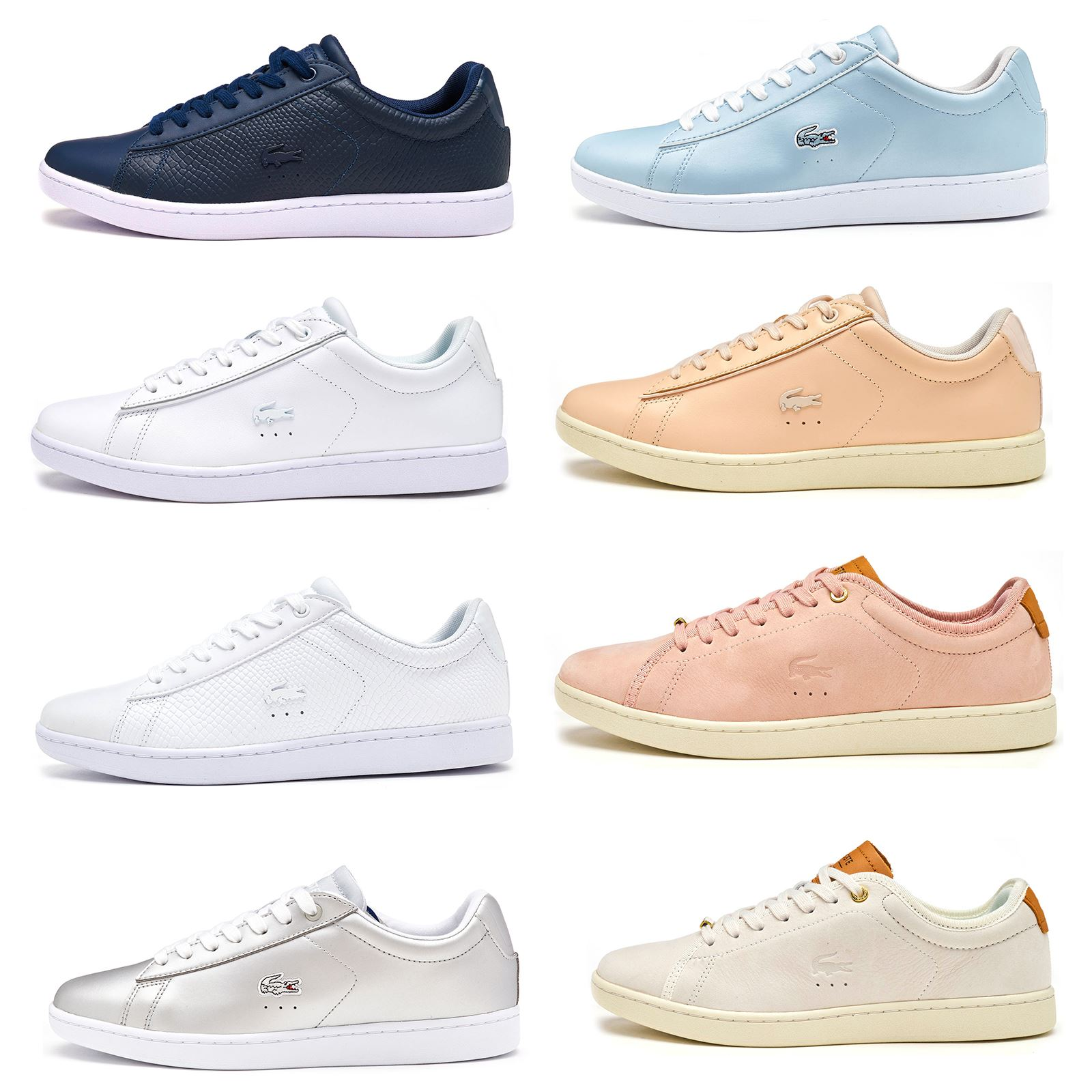 406867b83 Details about Lacoste Carnaby EVO 117 3 SPW Leather Women Trainers in Grey    Pink 733SPW1012