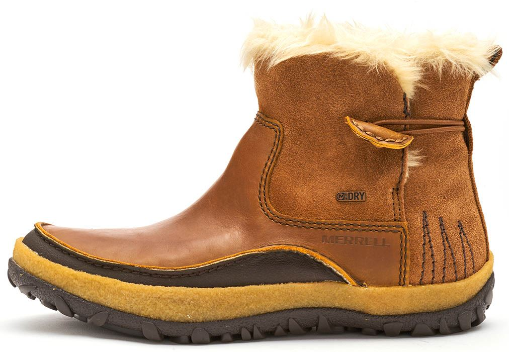 3a01ac115541 Details about Merrell Tremblant Pull On Polar Leather Women Boots in Merrell  Oak Brown J45932