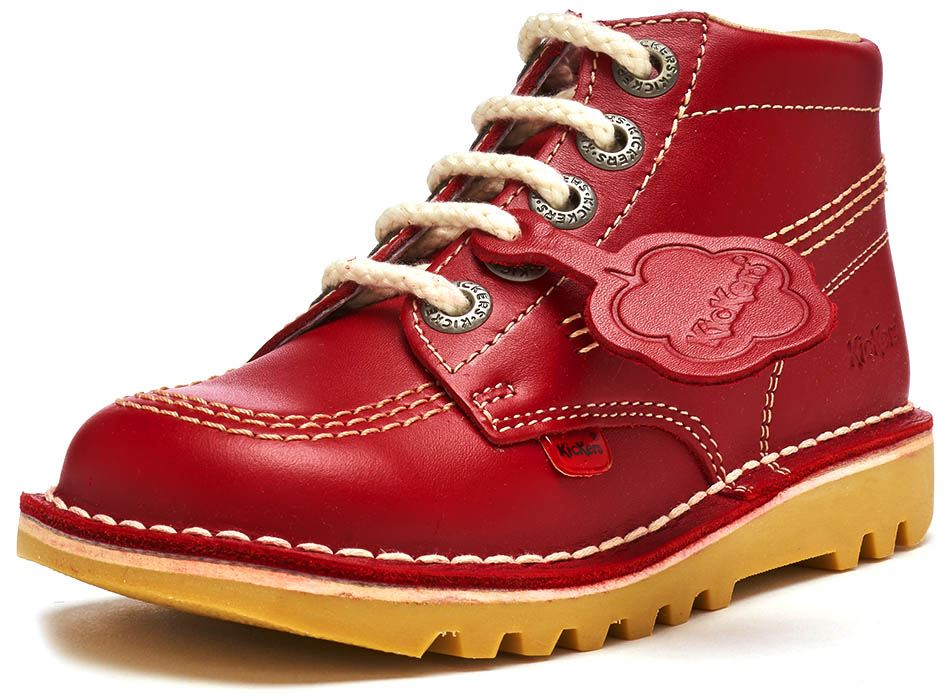 5ddccd24 Kickers Kick Hi Infant Red Leather Ankle BOOTS 12 UK Child / 30 EU. About  this product. Picture 1 of 5; Picture 2 of 5; Picture 3 of 5 ...