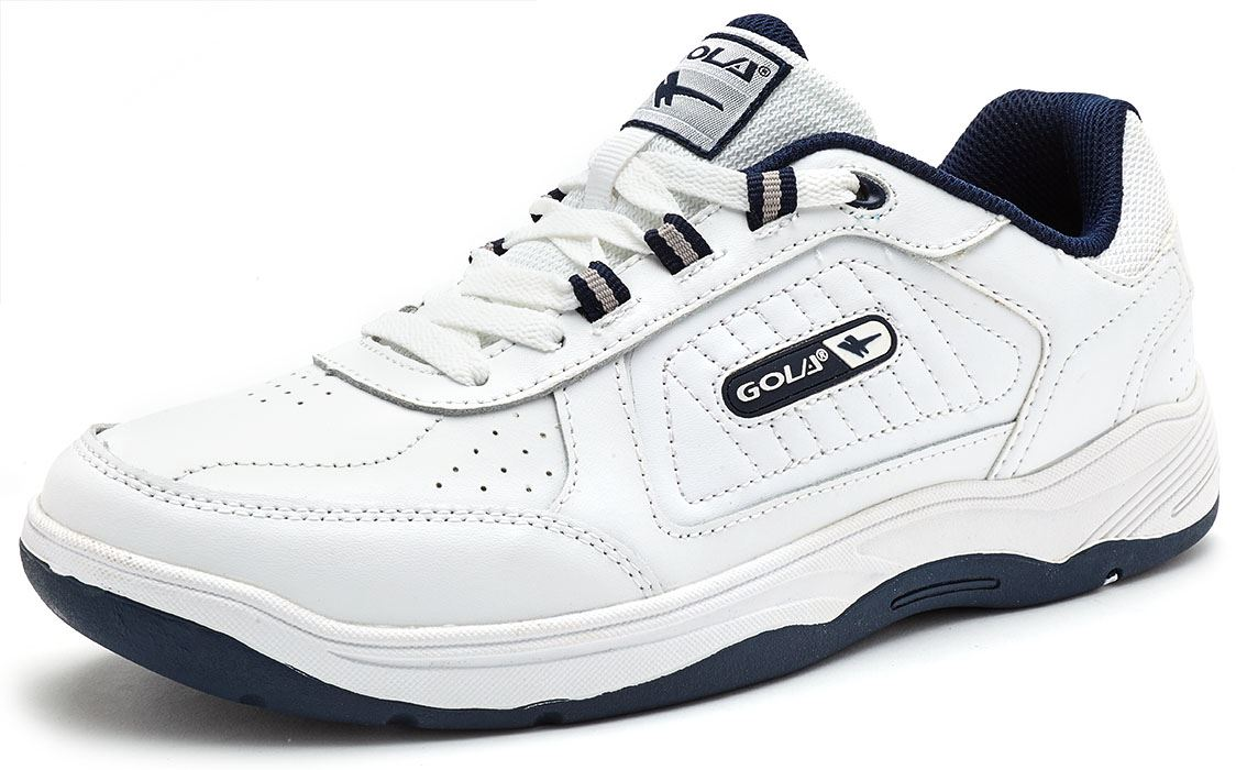 Gola-Active-Belmont-Double-Laniere-amp-Lacet-Coupe-Large-Baskets-Noir-Blanc