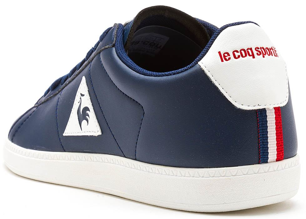 1bc3136b1a51 Le Coq Sportif Courtset S Lea Trainers in White   Blue 172F138