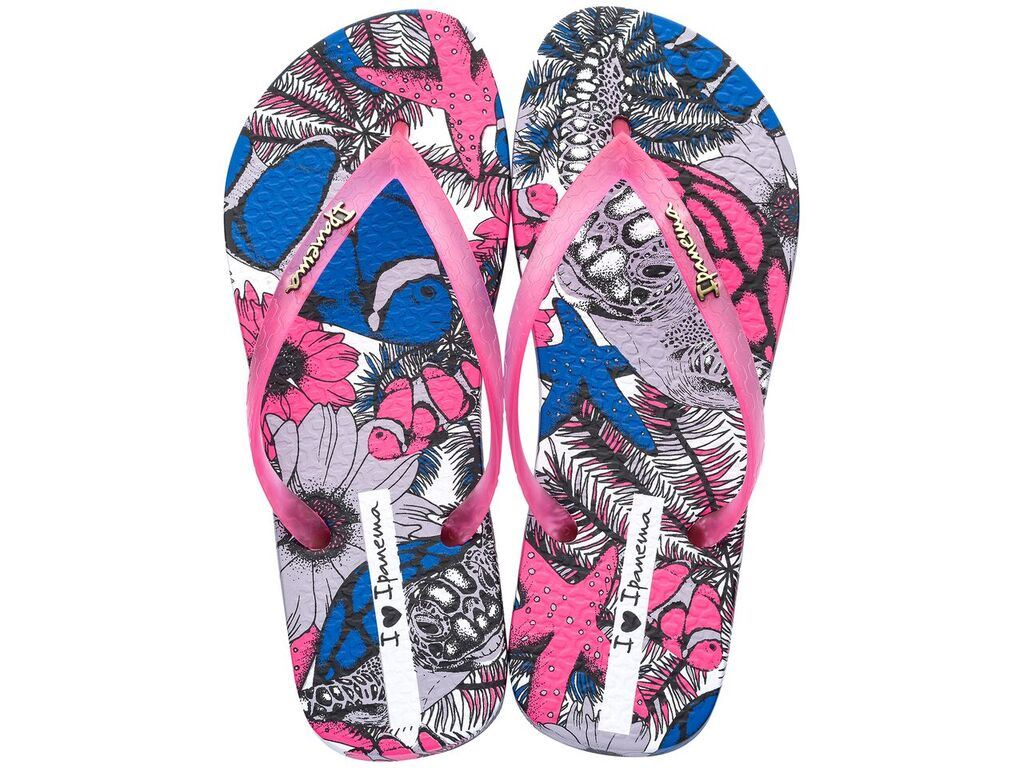 d93f1c818 Ipanema Amazona Flip Flops Slim Footbed Print Beach Sandals 82034