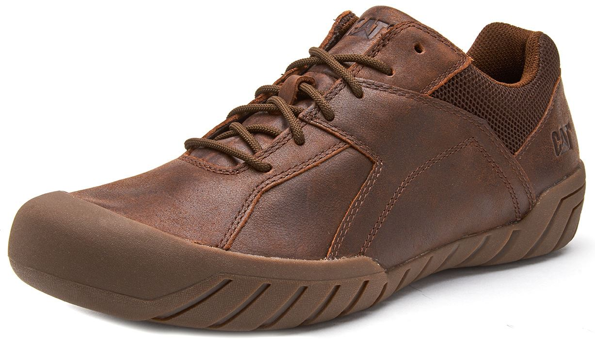 Caterpillar-CAT-Haycox-Shoes-Leather-Casual-Trainers-in-Brown-Taupe-amp-Grey thumbnail 11