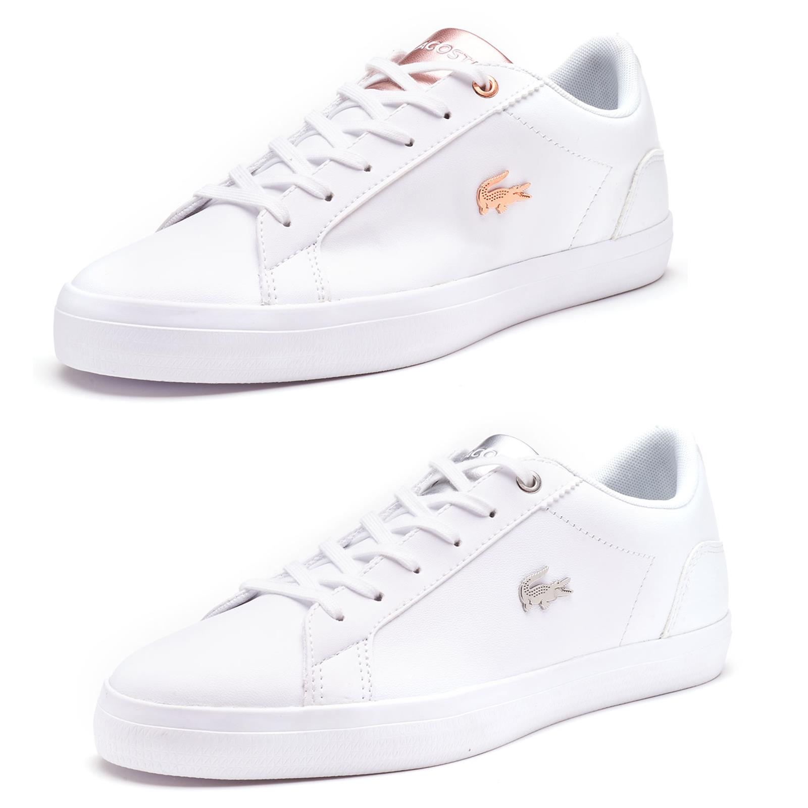 rose gold lacoste shoes