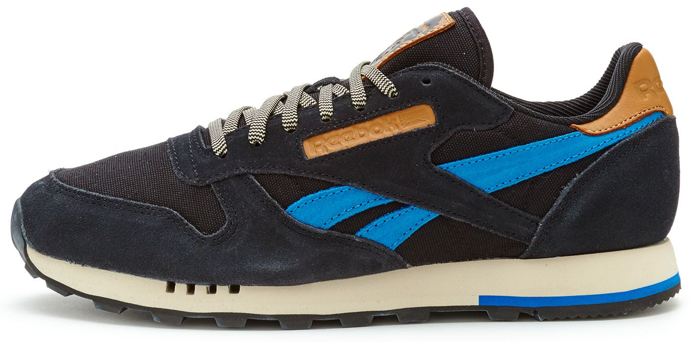 buty reebok classic leather suede black