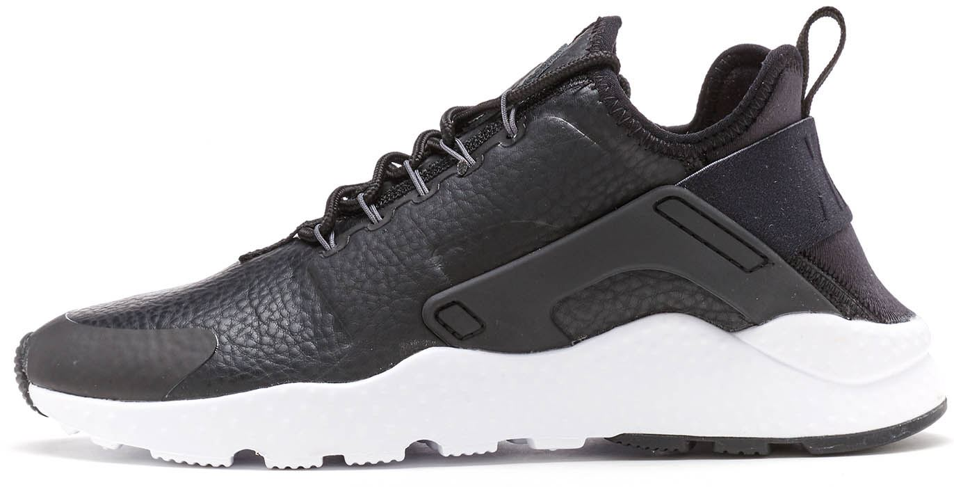 Details about Nike Air Huarache Ultra Premium Women Trainers in Black    White 859511 001 61074a902ea1