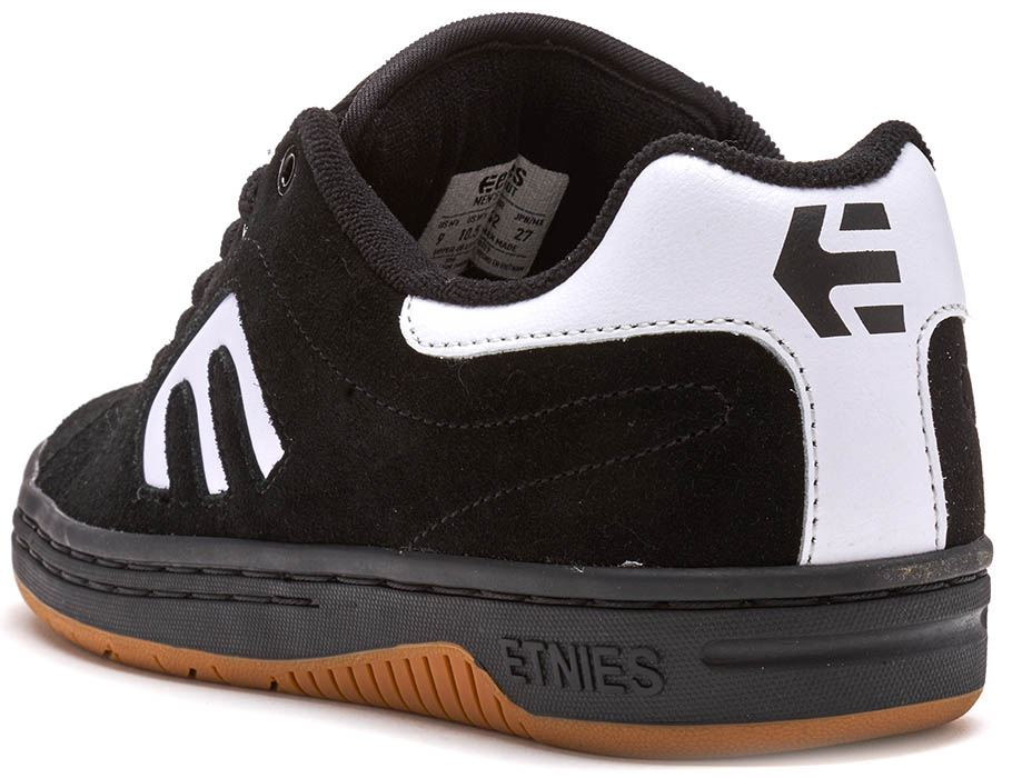 Etnies-Callicut-LS-Suede-amp-Leather-Vintage-Trainers-in-White-amp-Black-4101000474 thumbnail 4