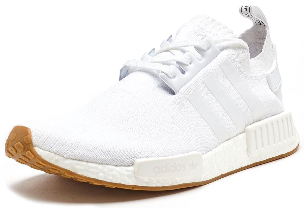 04f387711 Adidas Originals NMD R1 Primeknit Trainers in White BY1888