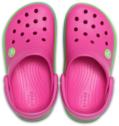 Crocs-Kids-Crocband-Rainbow-Wavy-Sequin-Relaxed-Fit-Clogs-Shoes-Pink-Blue-Orange thumbnail 14