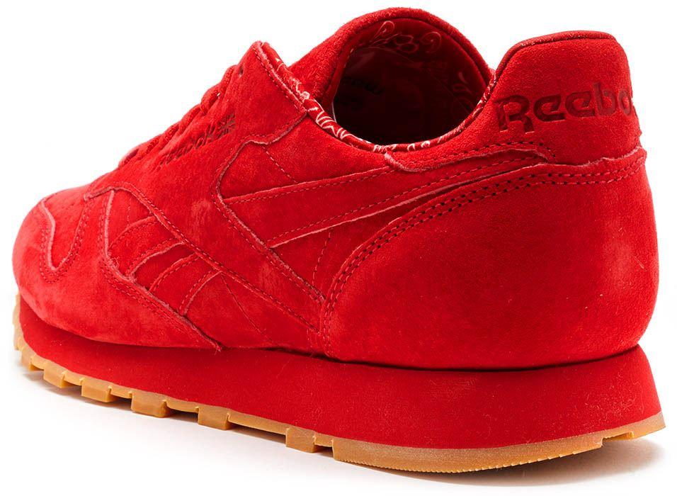 Reebok Pelle Classico Camoscio Rosso vDL6Bc6U2C