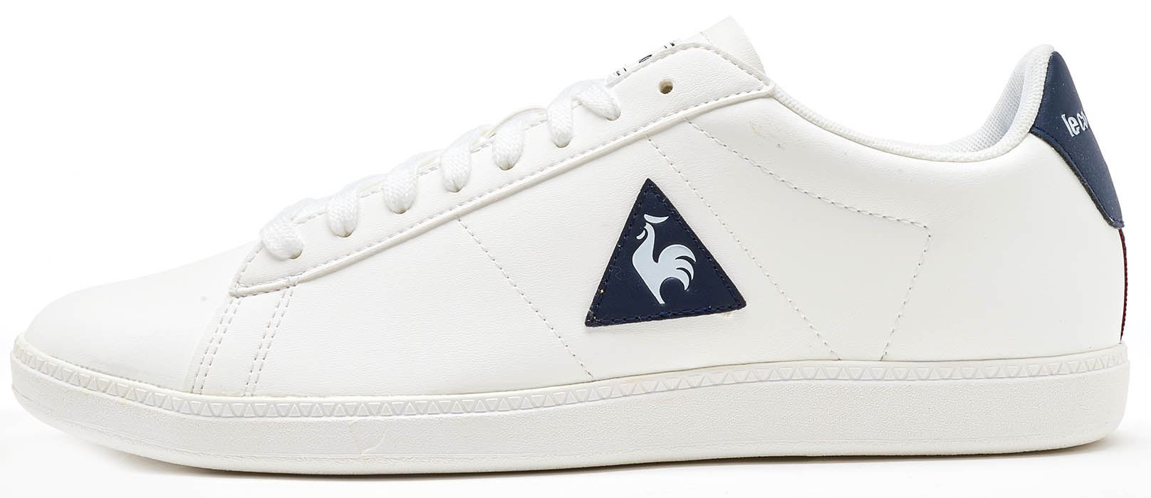 f10194393071 Le Coq Sportif Courtset S Lea Trainers in White   Blue 172F138