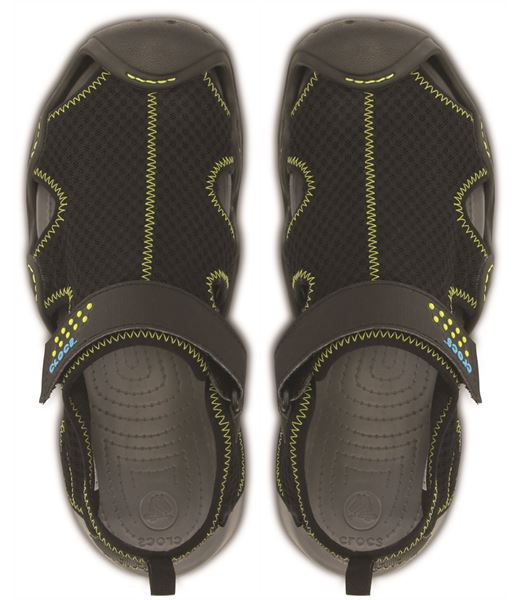 a4f1a10047ee Crocs-Swiftwater-Sandals-in-Black-Charcoal-amp-Espresso-