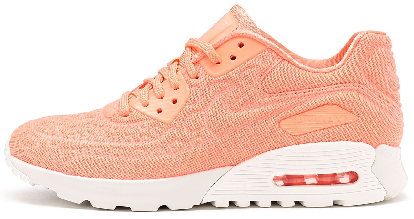 uk availability f59b7 10c4c Nike Air Max 90 Ultra Plush Women Trainers in Atomic Pink   White 844886 600