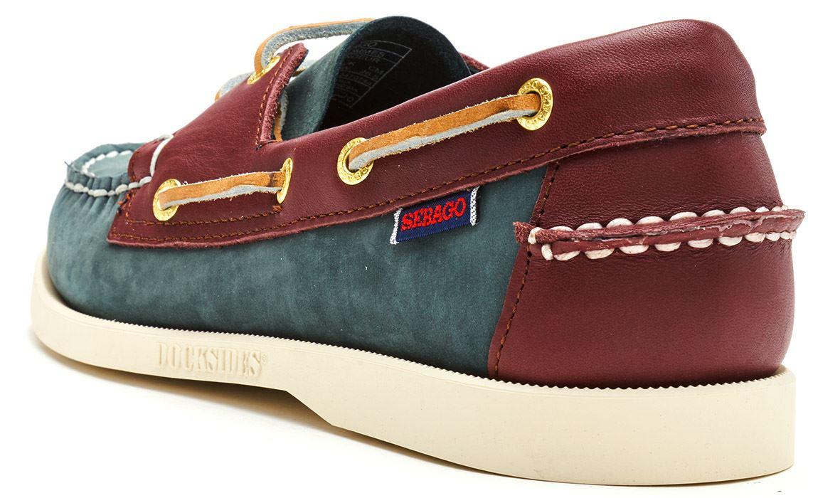 Sebago-Docksides-NBK-Suede-Boat-Deck-Shoes-in-Navy-Blue-amp-Coral-amp-Dark-Brown thumbnail 28