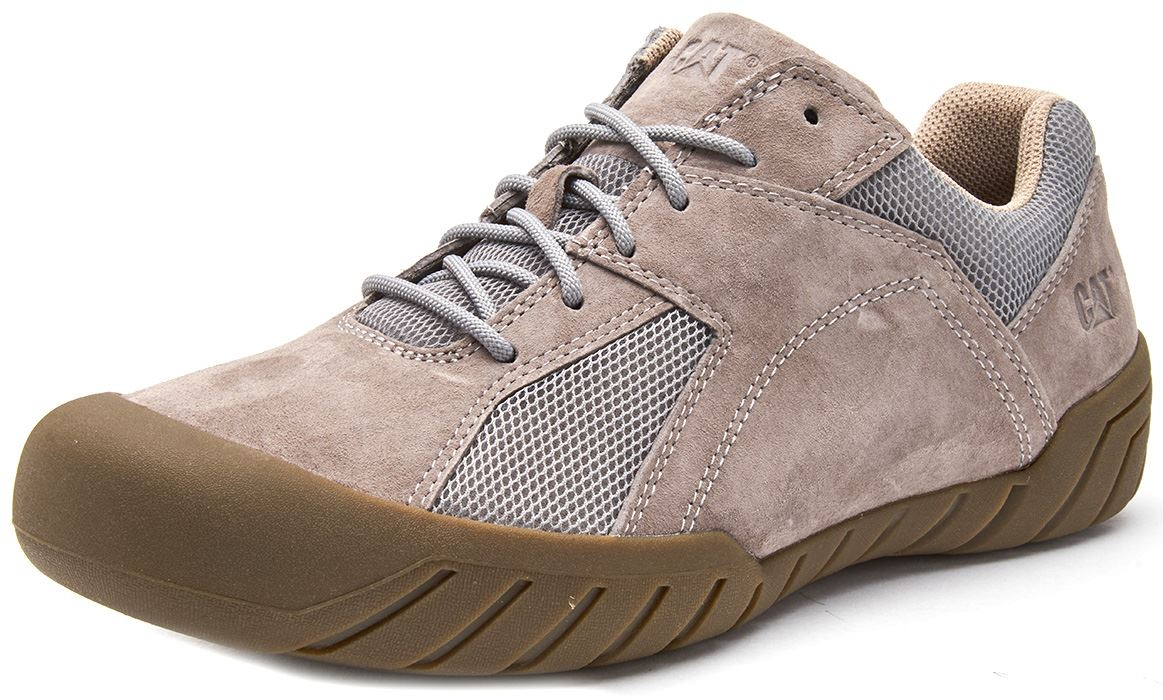 Caterpillar-CAT-Haycox-Shoes-Leather-Casual-Trainers-in-Brown-Taupe-amp-Grey thumbnail 7